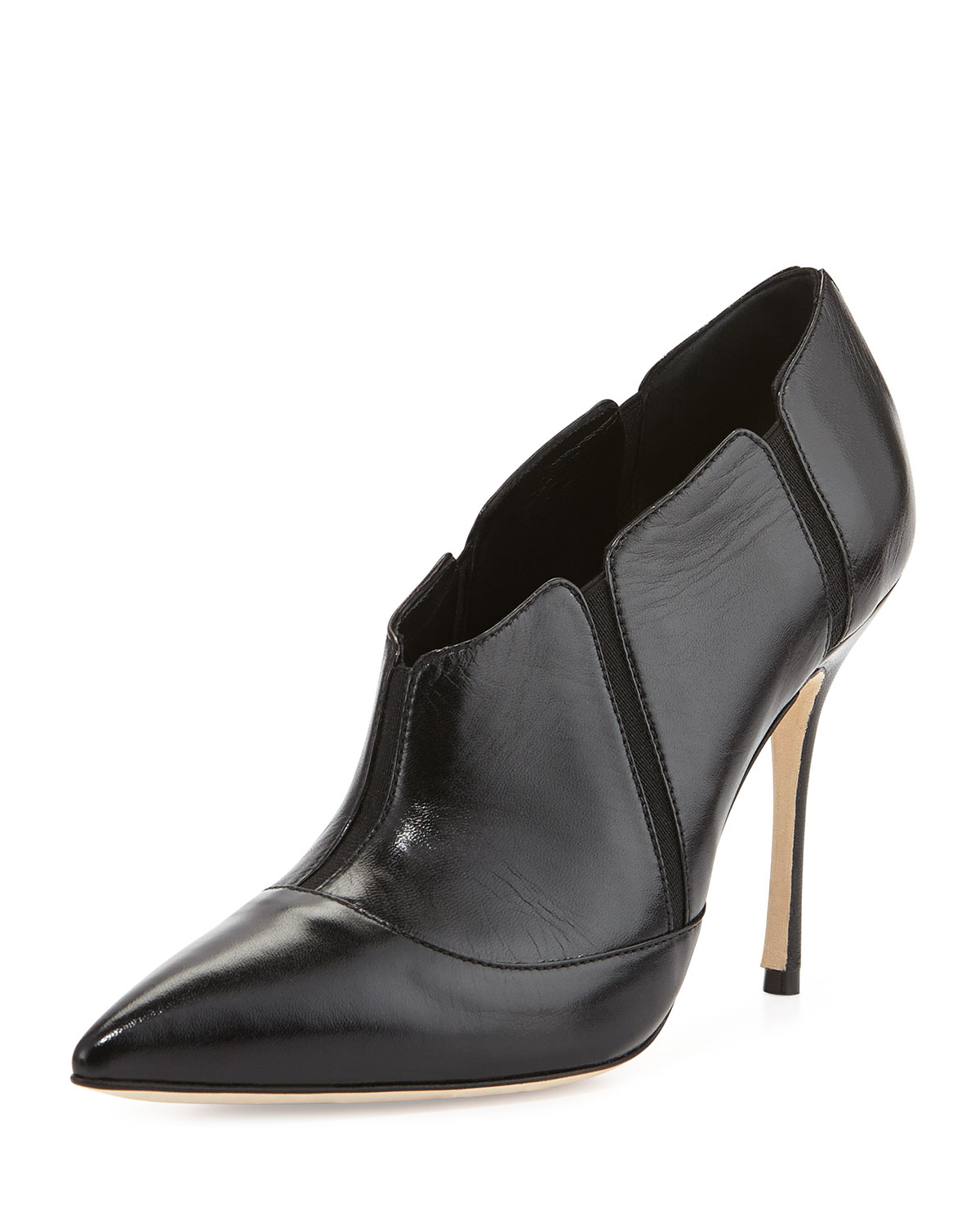 Manolo Blahnik Desolada Stretch-Inset Ankle Boot in Black ...