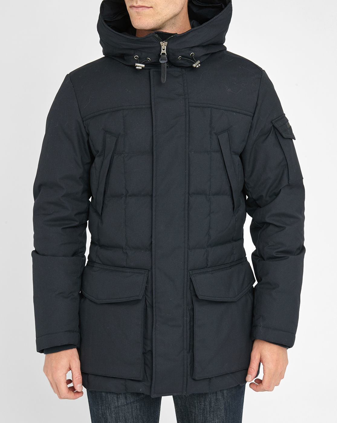woolrich navy teton blizzard parka in blue for men lyst. Black Bedroom Furniture Sets. Home Design Ideas