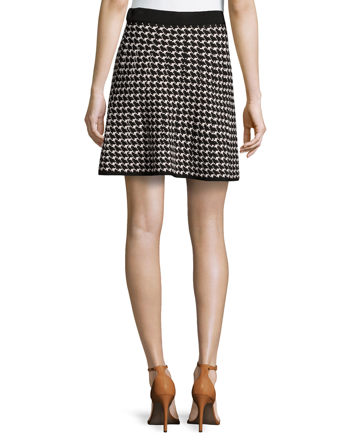 Max studio houndstooth knit circle skirt lyst gallery bankloansurffo Image collections