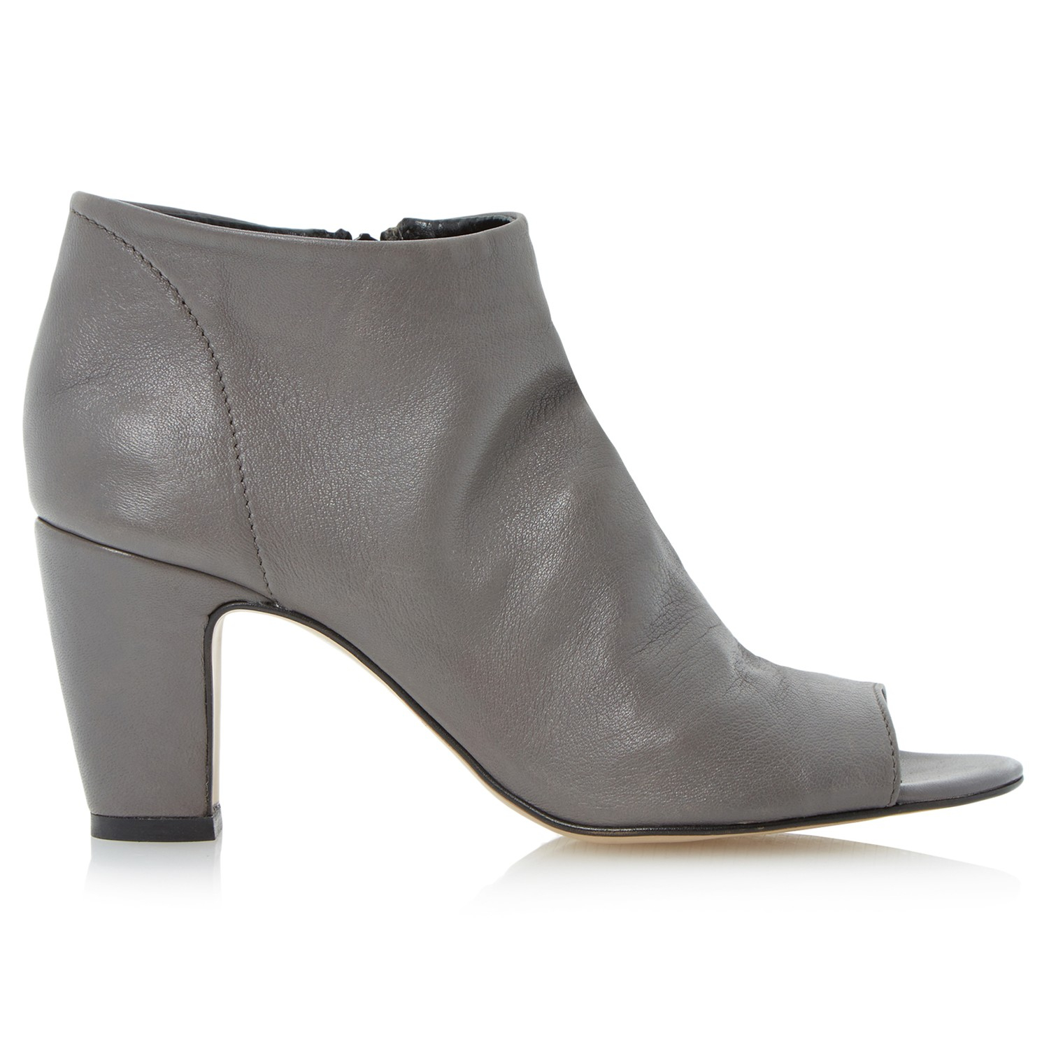 Dune Caitlen Leather Shoe Boots in Black (Grey)