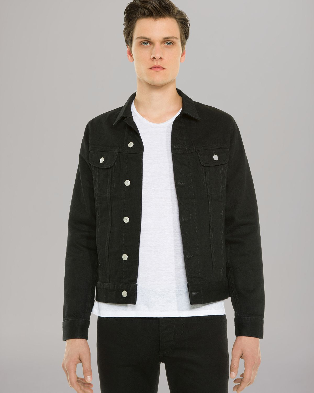 Sandro Phoenix Denim Jacket in Black for Men | Lyst