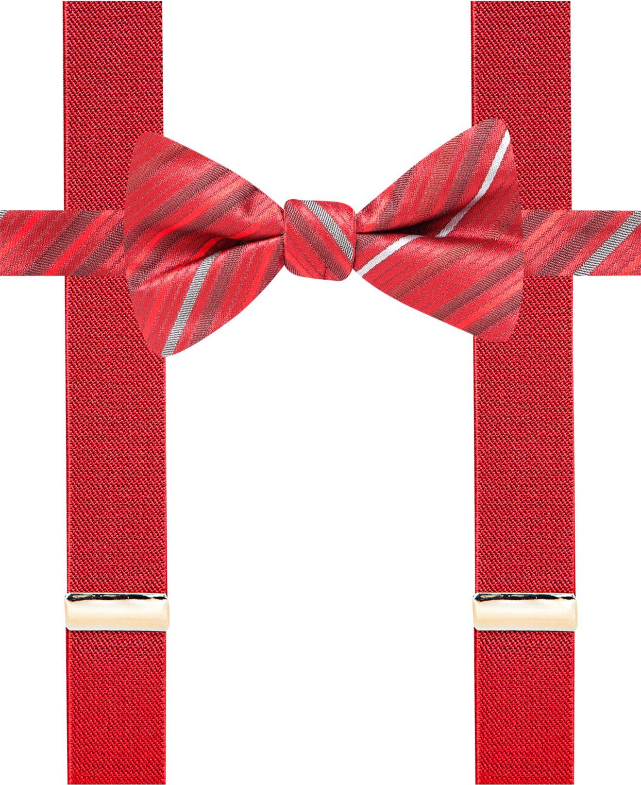 alfani spectrum bexley stripe pre bow tie suspender