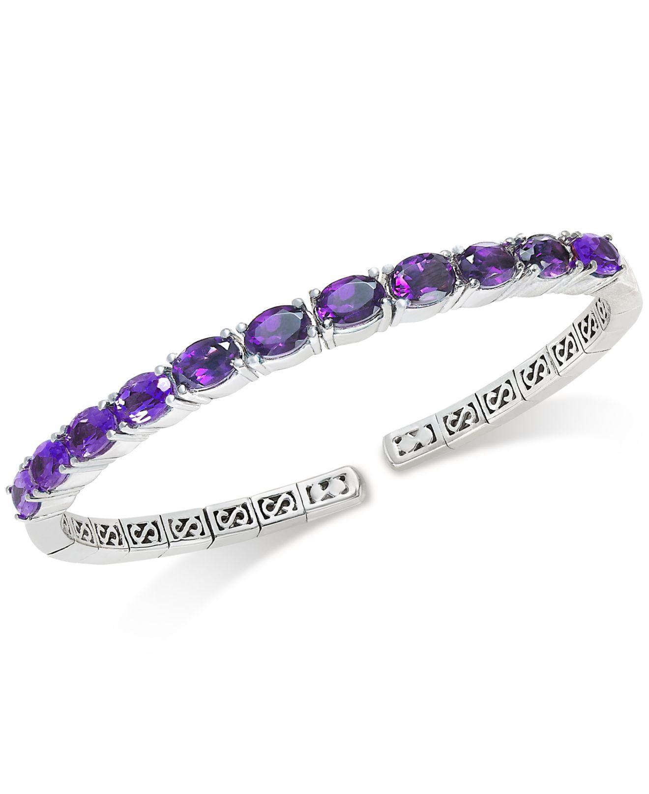 macy s amethyst bangle bracelet 5 1 2 ct t w