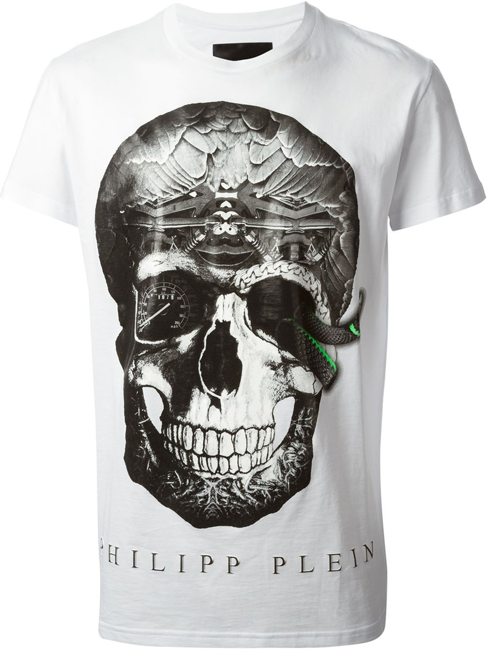 philipp plein 39 david 39 t shirt in white for men lyst. Black Bedroom Furniture Sets. Home Design Ideas
