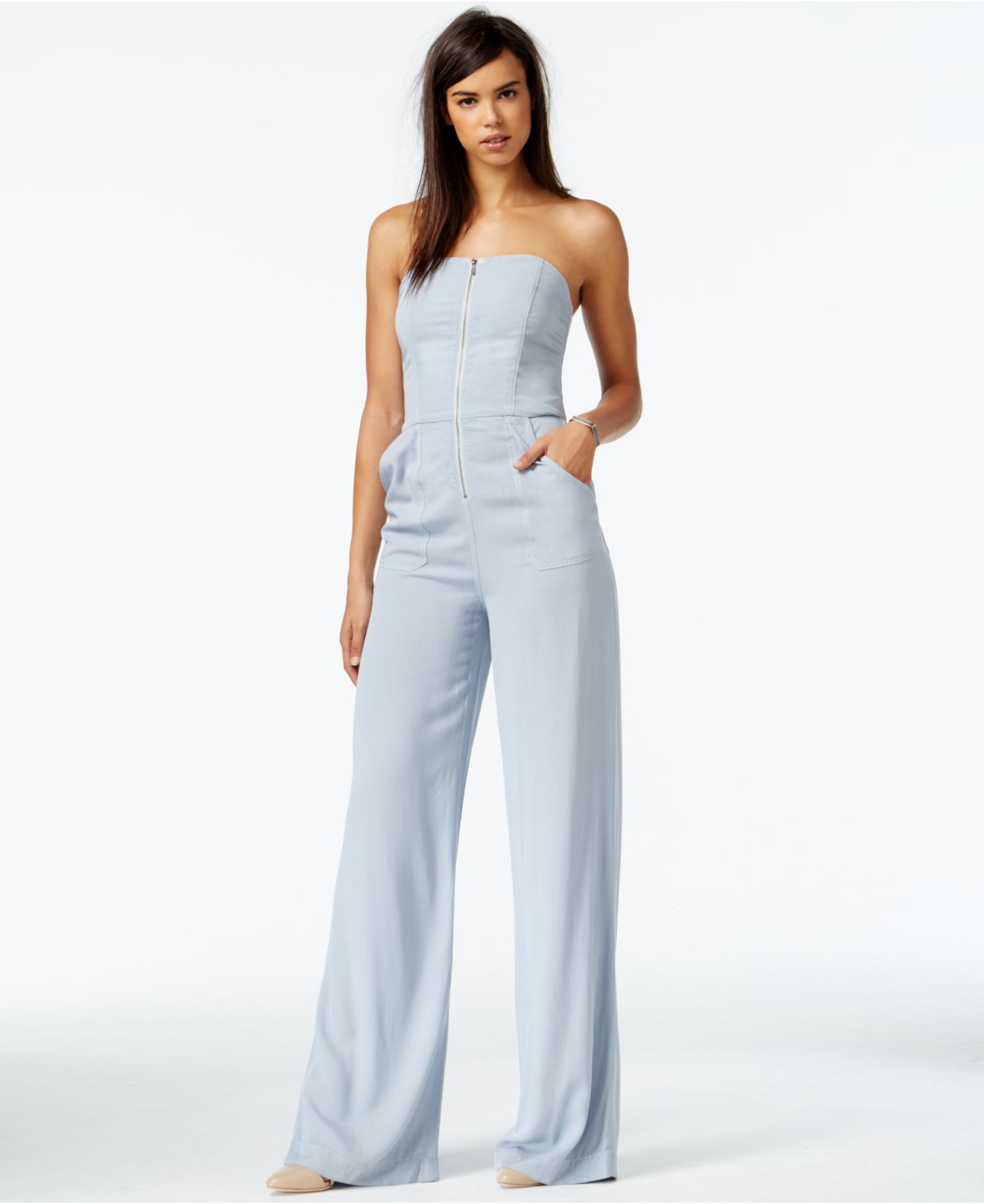 b322f10167c3 Gallery. Previously sold at  Macy s · Women s Denim Jumpsuits ...