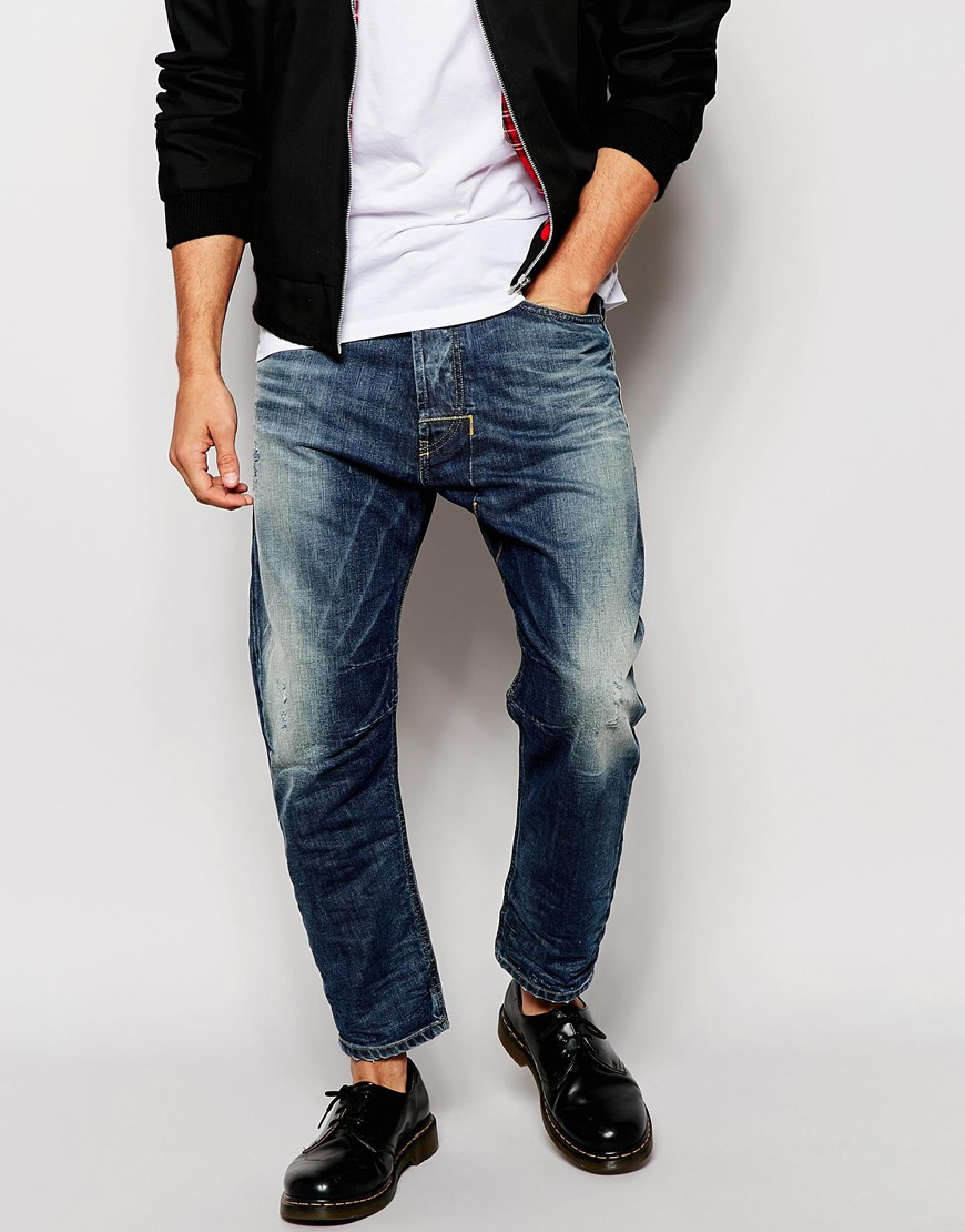 ce05d4f3d7 DIESEL Jeans Narrot 843s Extreme Tapered Cropped Fit Mid Vintage ...