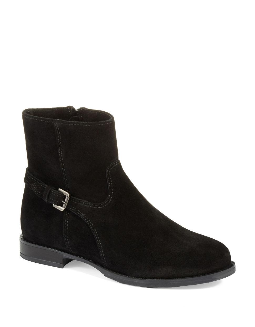 La Canadienne Denim Lara Waterproof Ankle Boots In Black