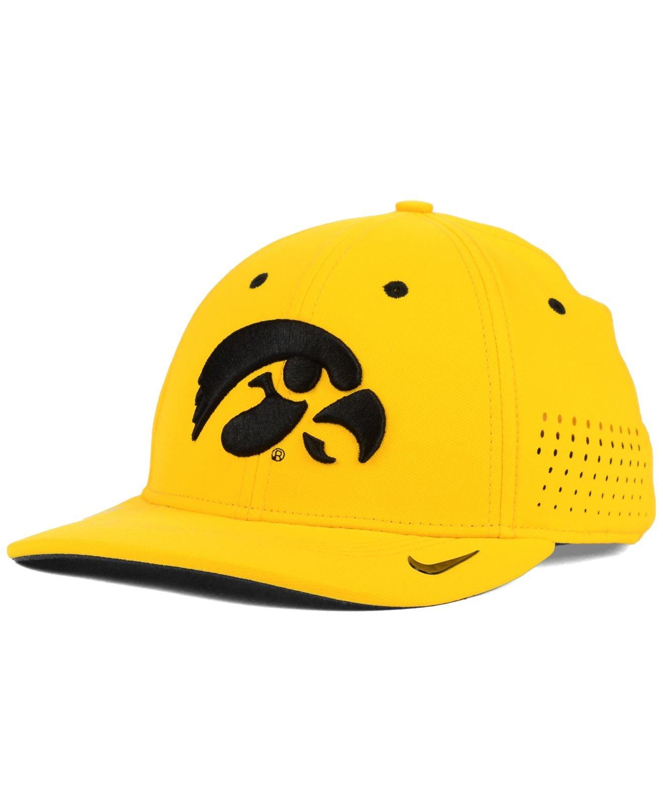 7129623b3 Nike Yellow Iowa Hawkeyes Sideline Cap for men