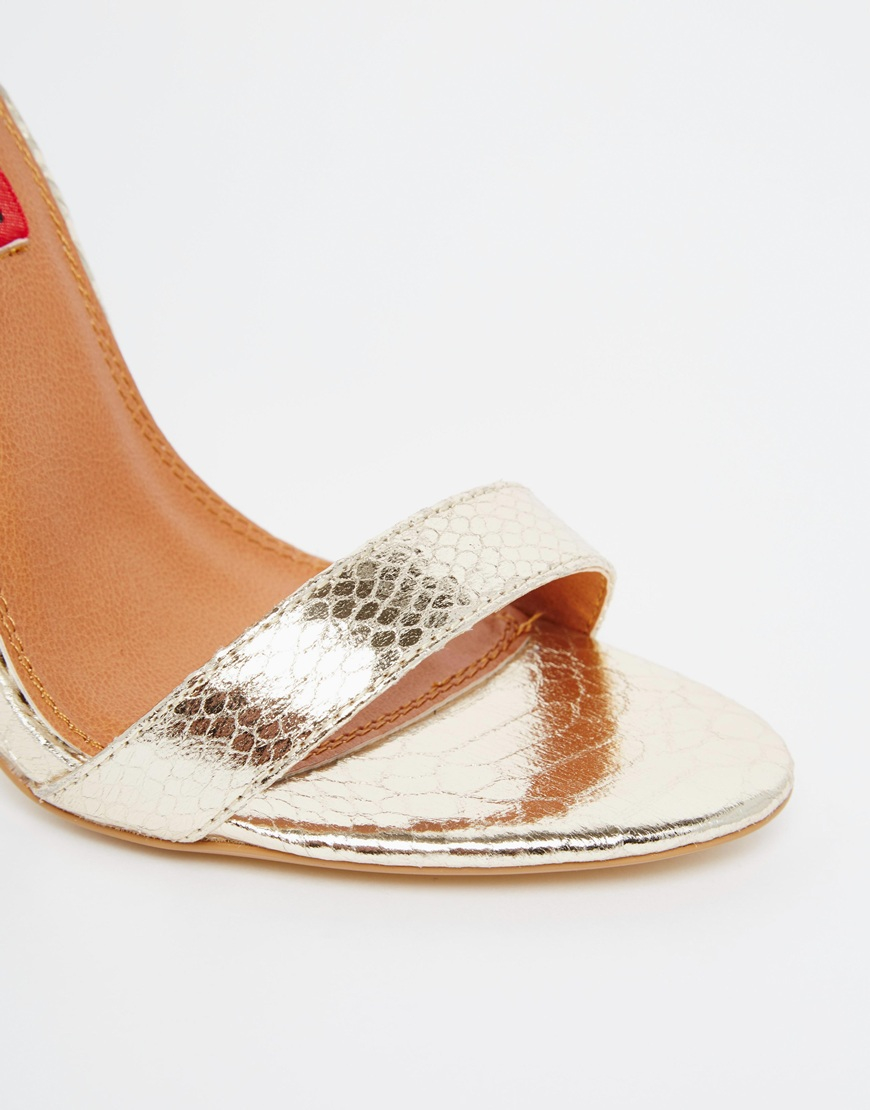 bf9defbe640 London Rebel Metallic Barely There Gold Heeled Sandals