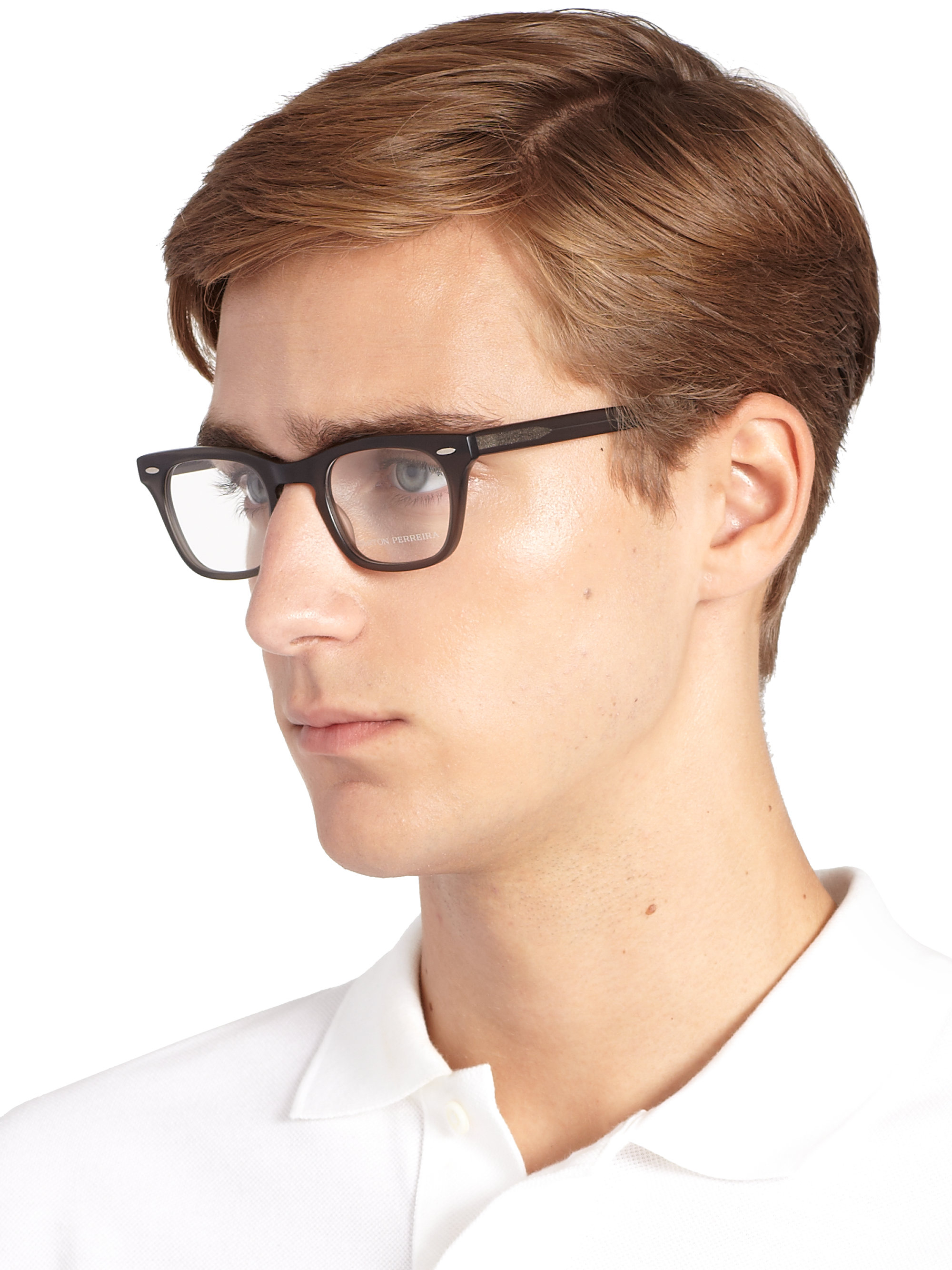 Lyst Barton Perreira 47mm Optical Glasses In Gray For Men