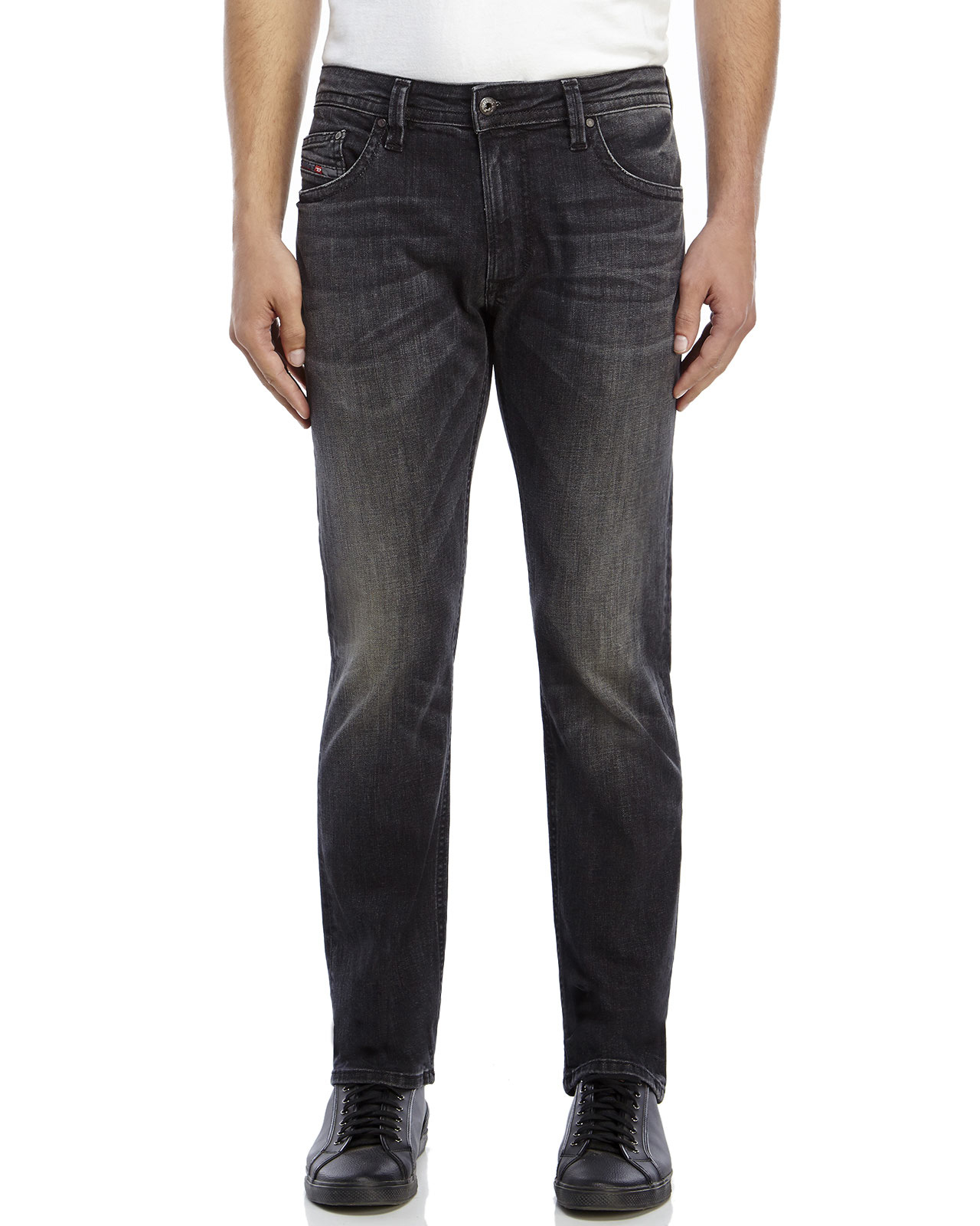 Dark grey slim jeans mens