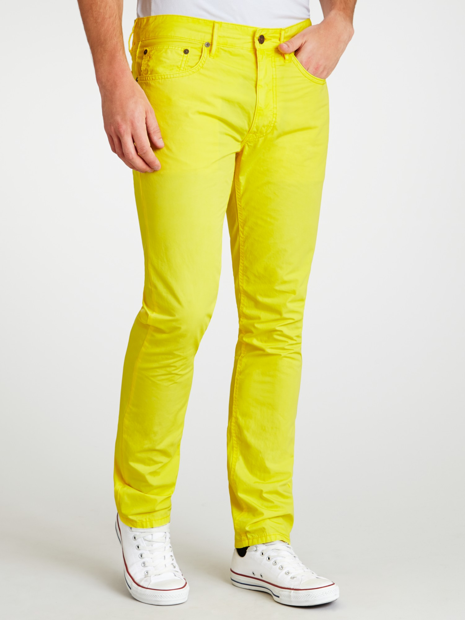 quality design 5e30a f8fef Ralph Lauren Cotton Polo Varick Slim Fit Trousers in Yellow ...