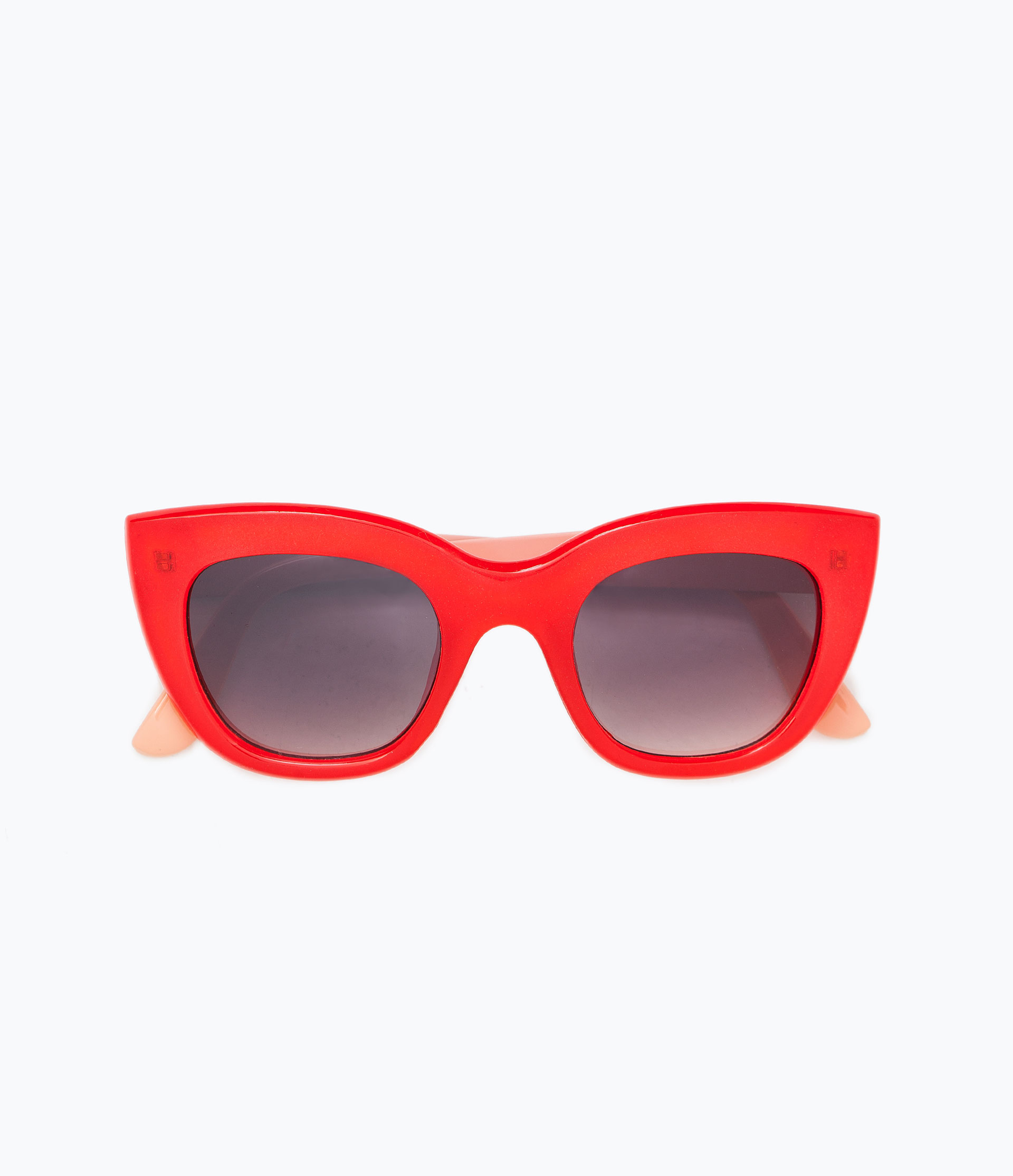 Zara Glasses Frames : Zara Red And Coral Resin Sunglasses in Red Lyst
