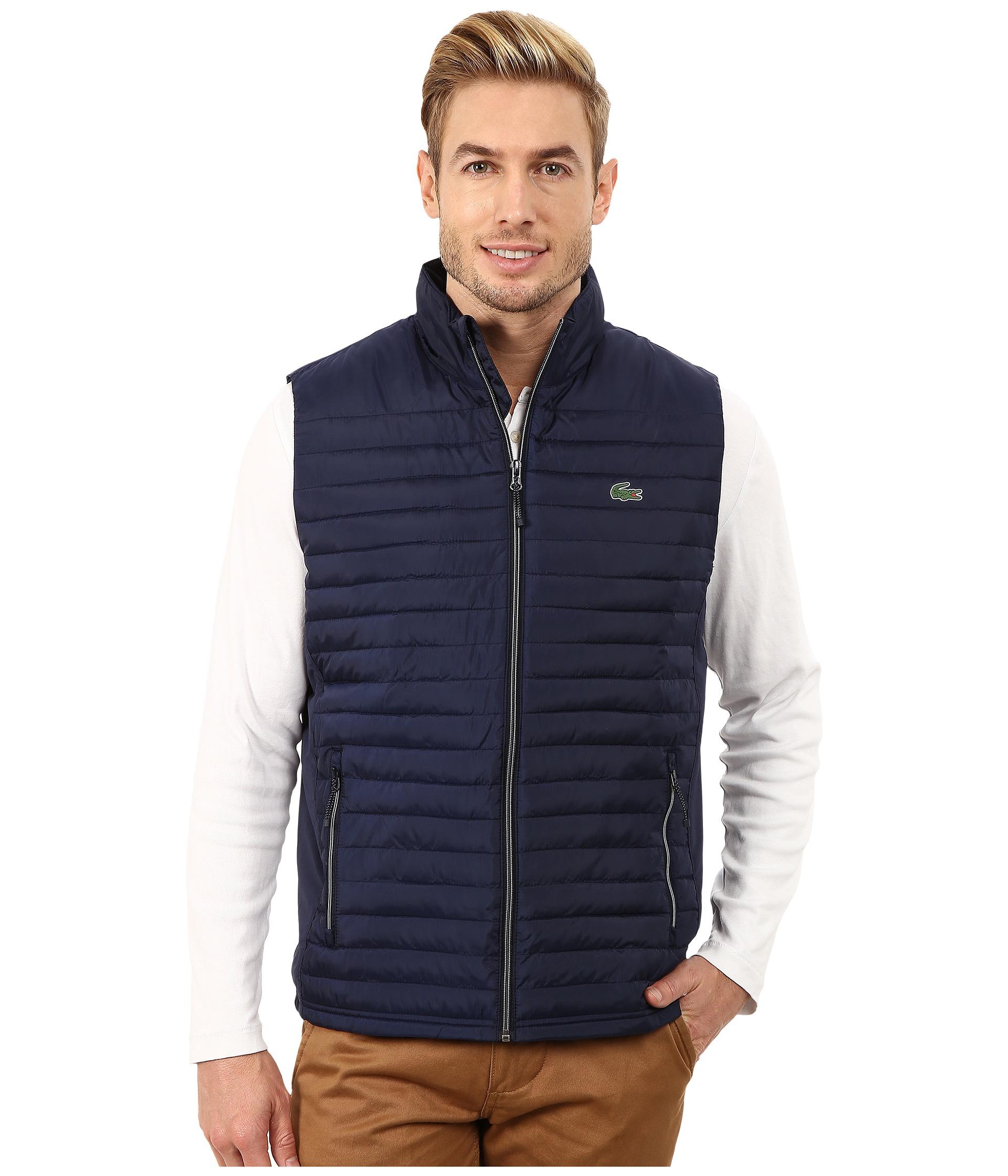 Lyst Lacoste Sport Golf Ripstop Vest In Blue For Men