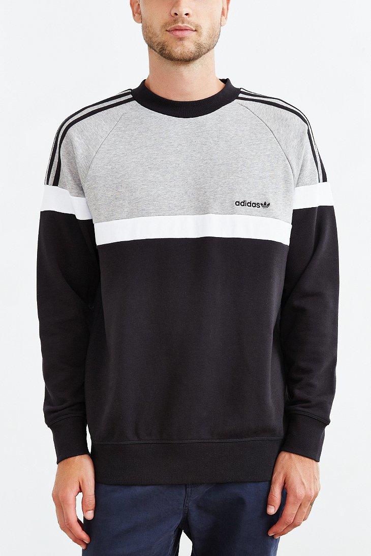 adidas Originals Itasca Crew Neck Sweatshirt in Black for Men - Lyst