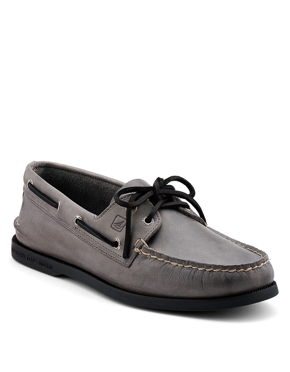 Ao 2 Eye Leather Boat Shoes sperry gray boat shoes