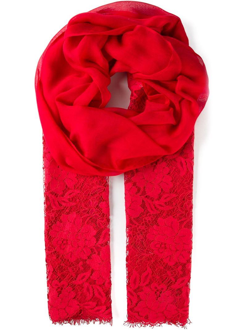 Châle De Dentelle Ton Sur Ton - Valentino Rouge XpH01qIrBX