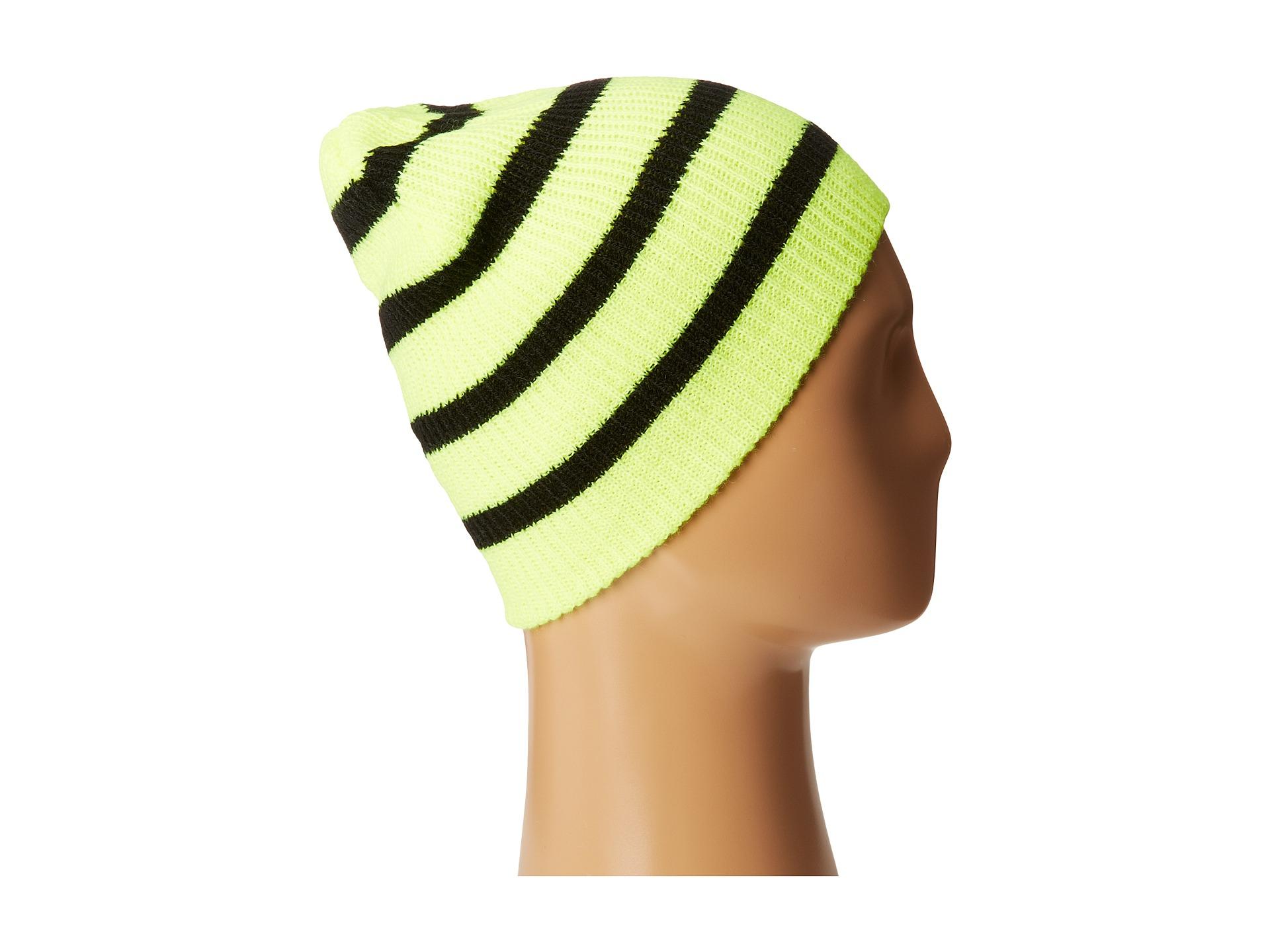 16b25b51ce5 Lyst - Neff Daily Stripe Beanie in Yellow