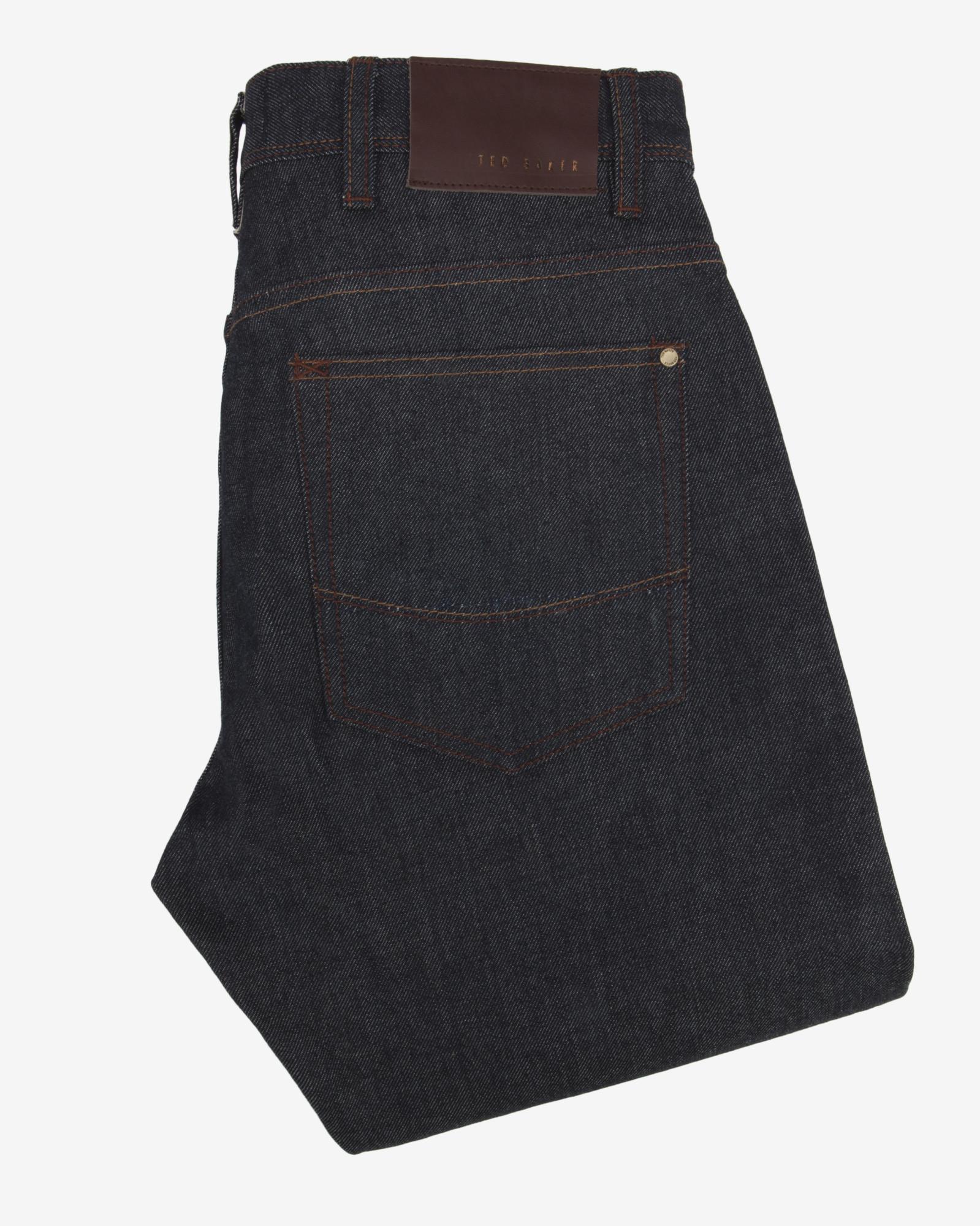 Ted Baker Straight Fit Selvedge Jeans in Rinse Denim (Blue) for Men