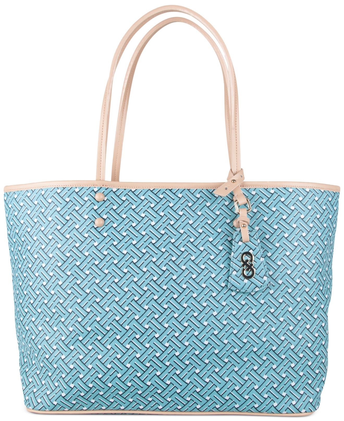 cole haan signature weave tote in blue lyst