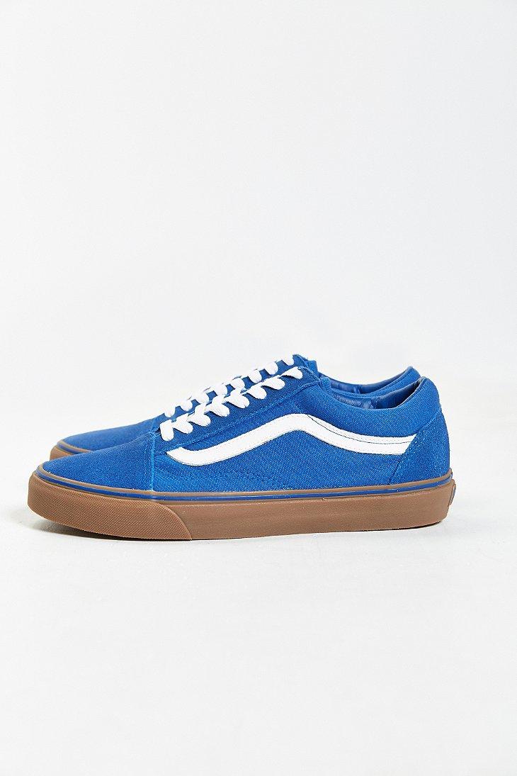 electric blue old skool vans