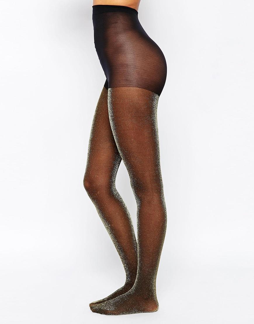monki glitter tights