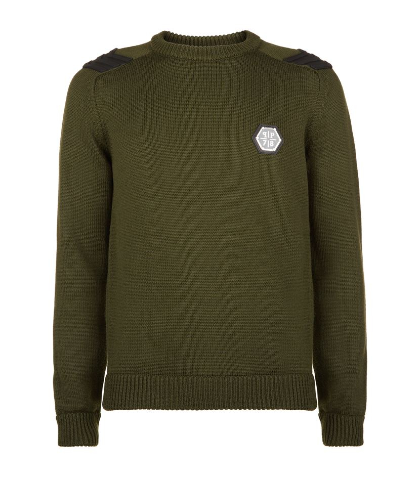 philipp plein army sweater in green for men lyst. Black Bedroom Furniture Sets. Home Design Ideas