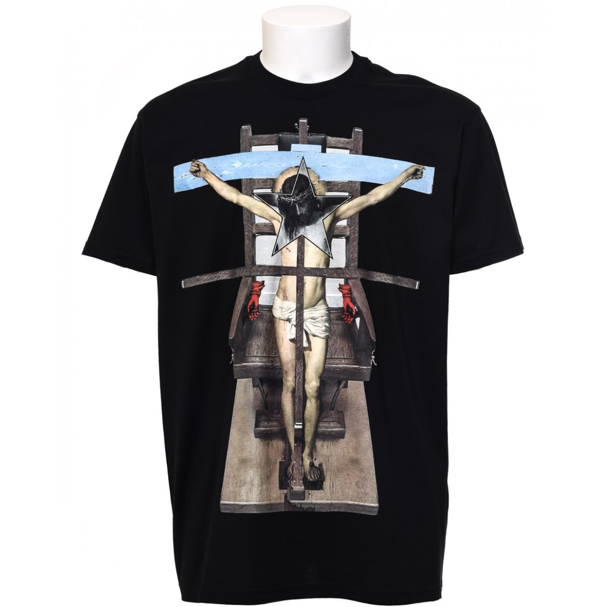 givenchy jesus cross t shirt in black for men lyst