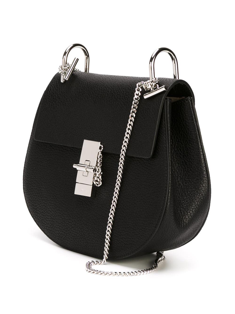 chlo 39 drew 39 shoulder bag in black lyst. Black Bedroom Furniture Sets. Home Design Ideas