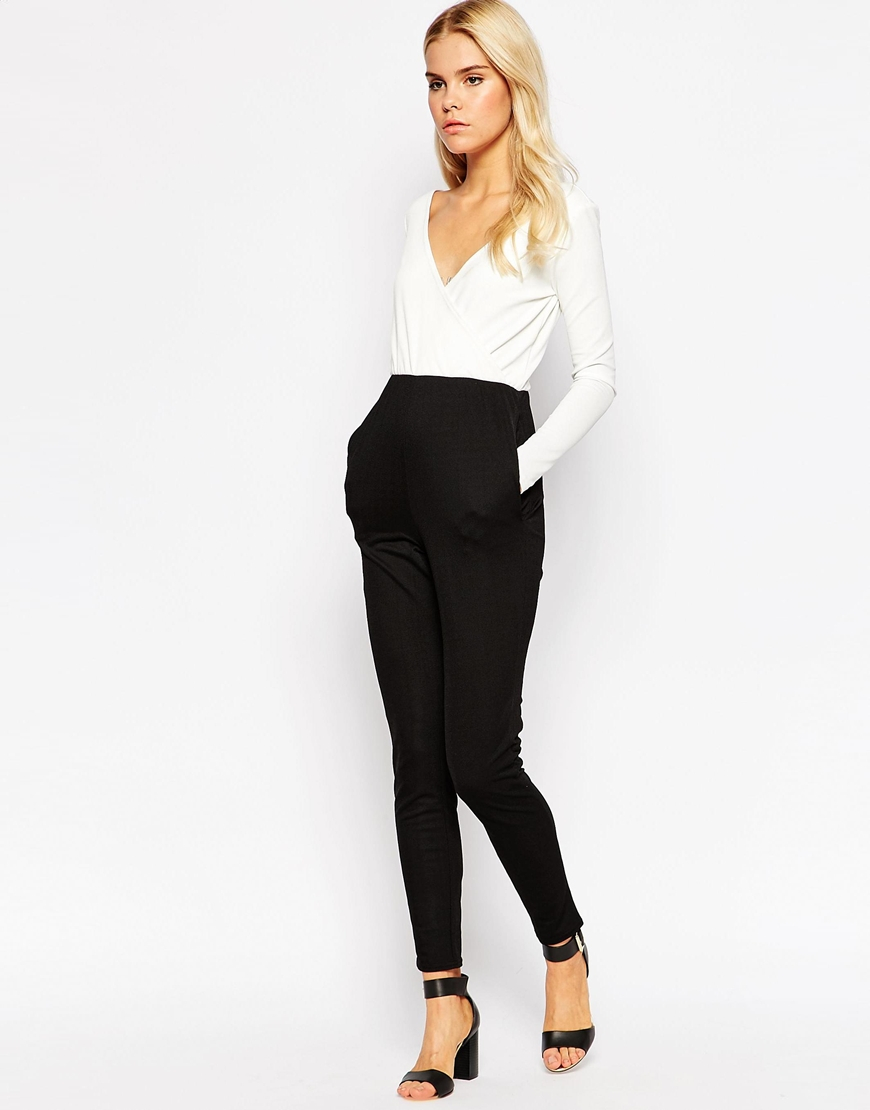 Oh my love Tailored Jumpsuit In Mono in Black | Lyst