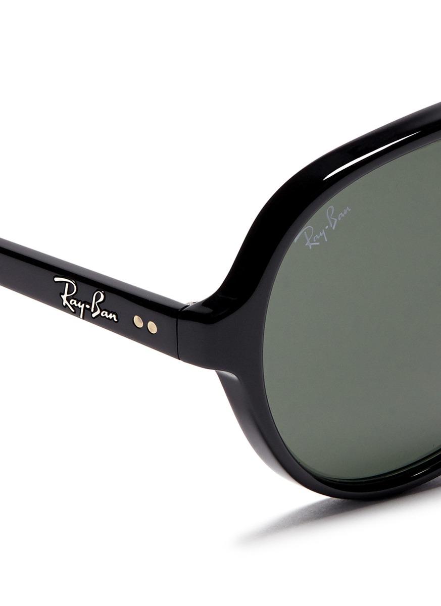 Ray Ban Acetate Aviator Sunglasses In Black For Men Lyst