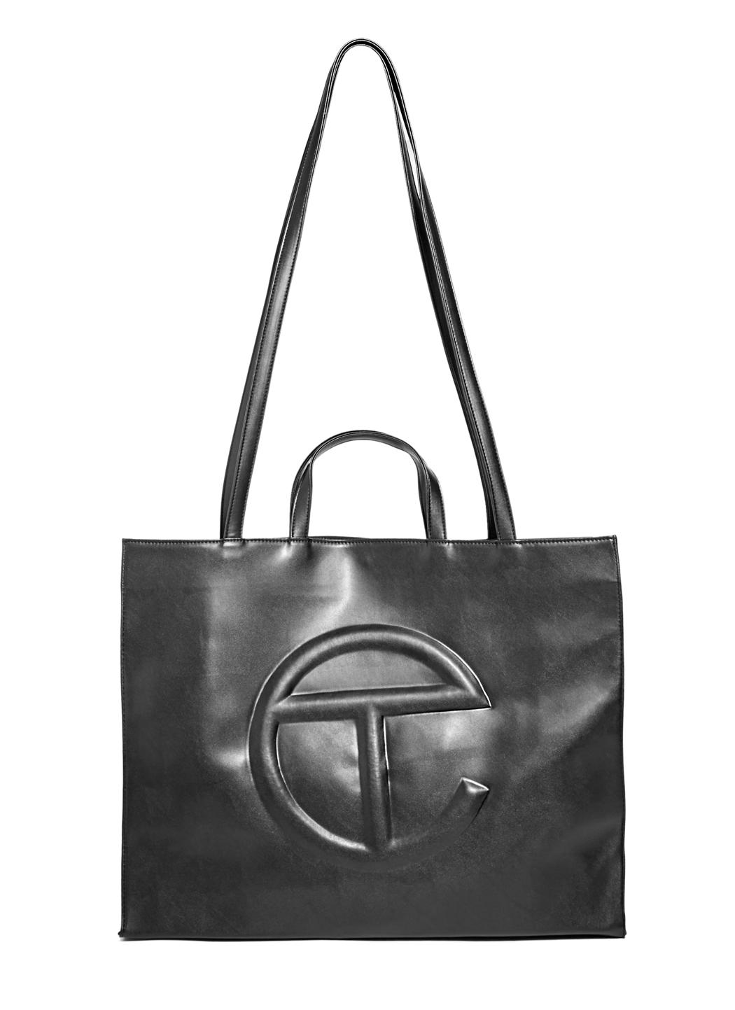 Lyst Telfar Large Pu Leather Tote Bag In Black