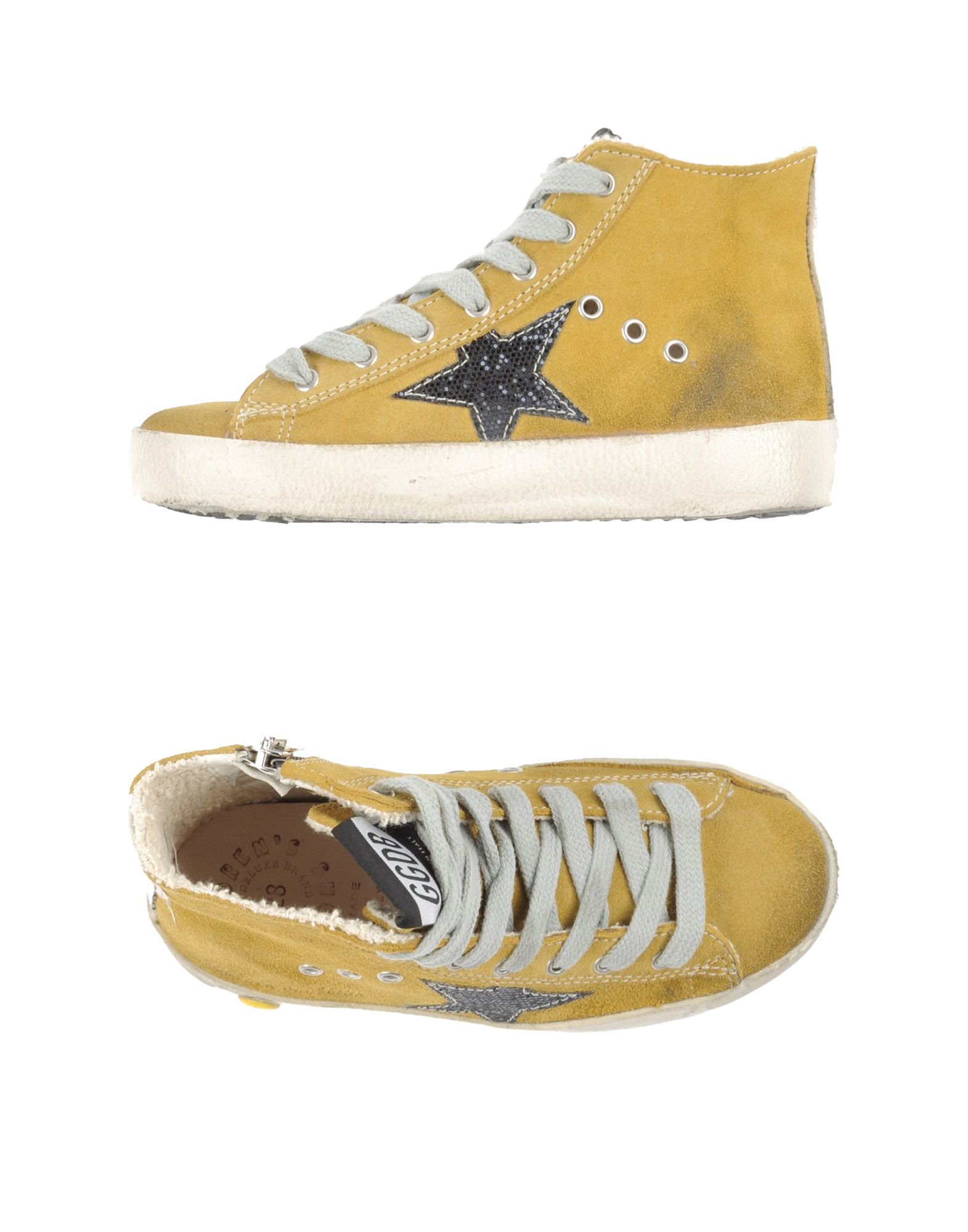 golden goose deluxe brand high tops trainers in yellow ocher lyst. Black Bedroom Furniture Sets. Home Design Ideas