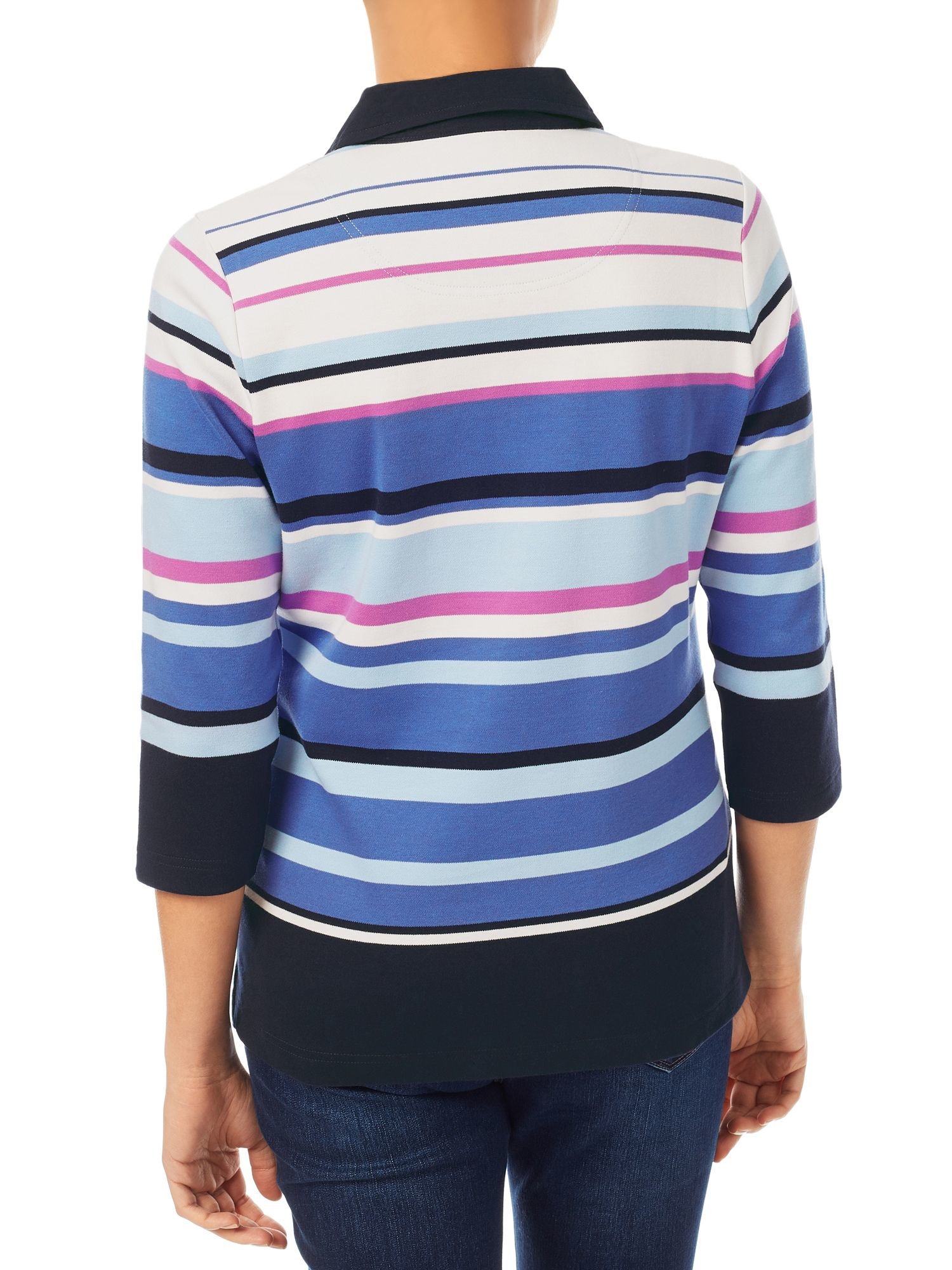 Lyst dash pink stripe rugby top for Pink and purple striped rugby shirt