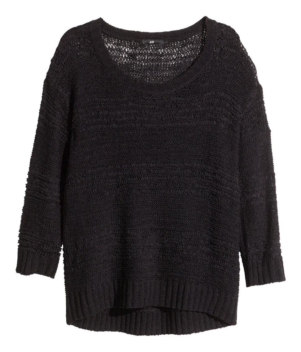 H&m Pattern-Knit Jumper in Black Lyst