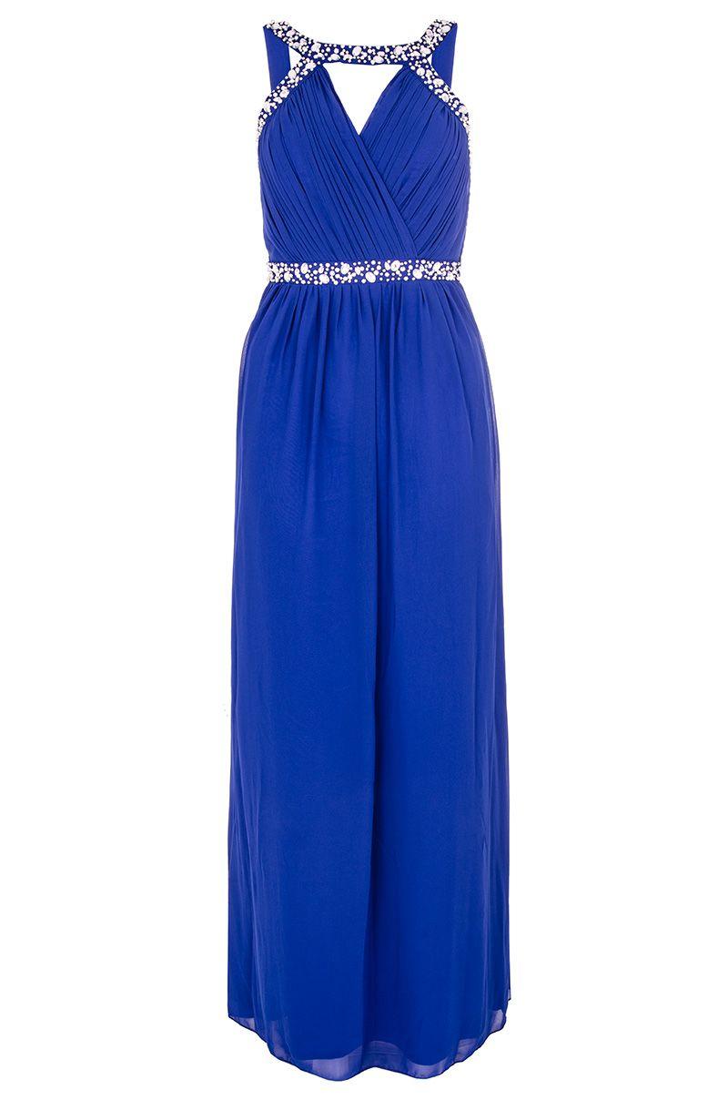 Lyst quiz royal blue beaded maxi dress in blue Fashion designer style quiz