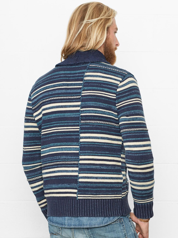 Lyst Denim Amp Supply Ralph Lauren Striped Shawl Collar