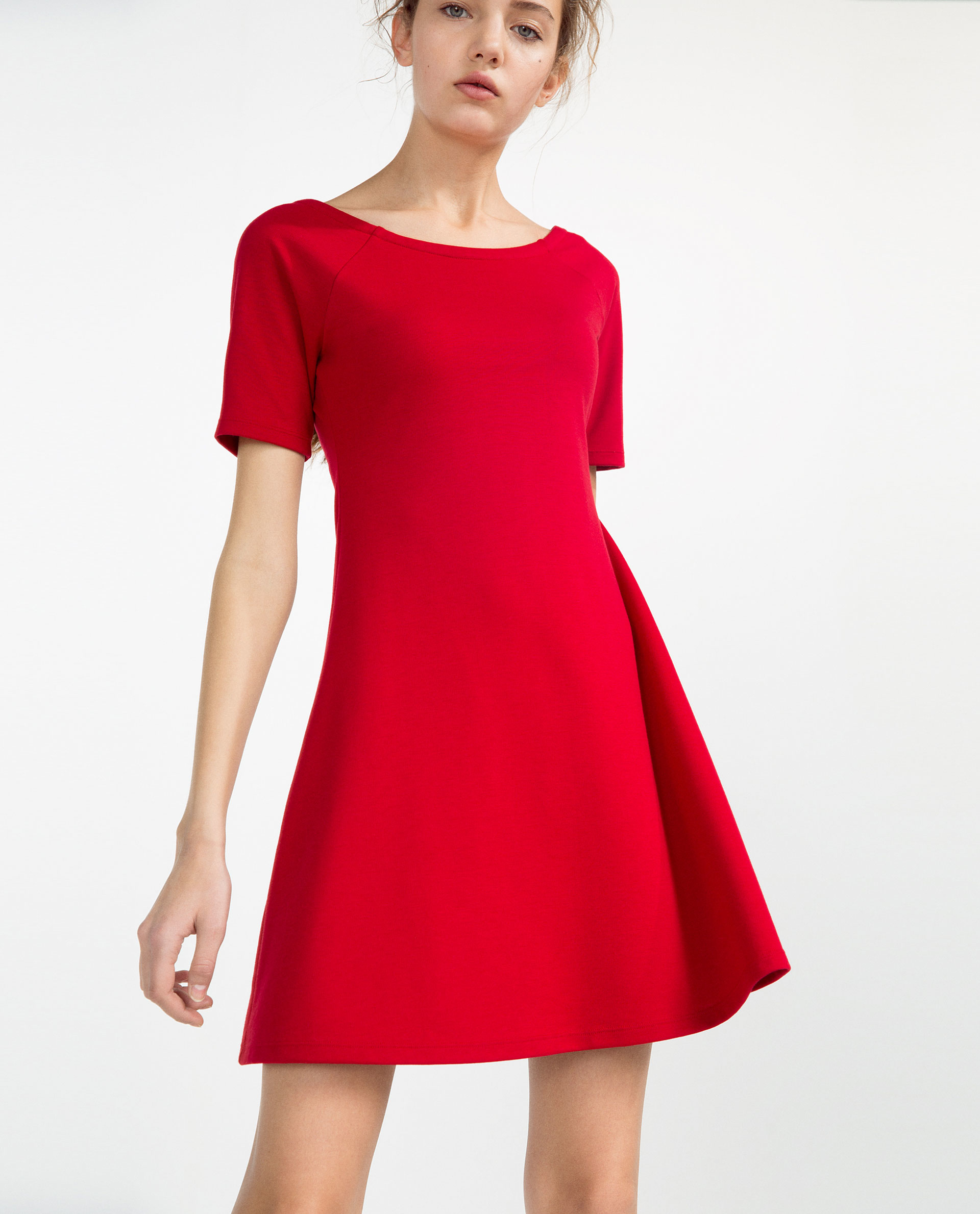 Zara Flared Dress in Red - Lyst