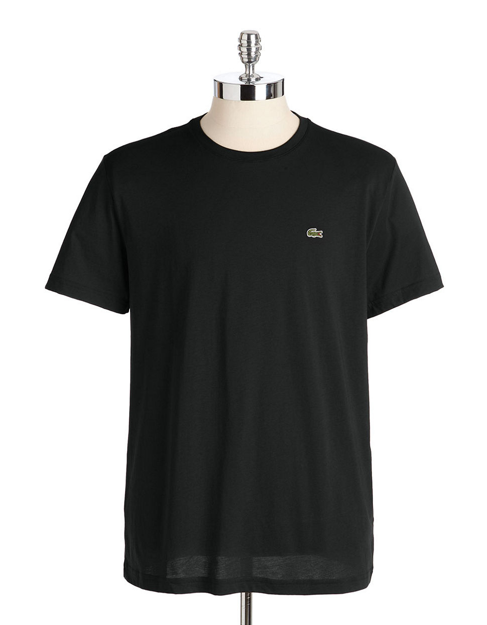 Lacoste Pima Cotton T Shirt In Black For Men Lyst