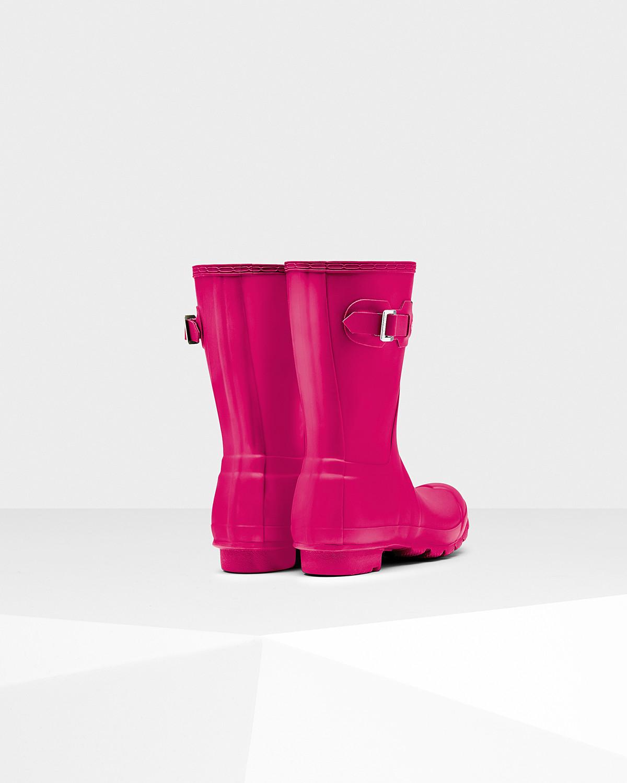 HUNTER Women's Original Short Wellington Boots in Bright Cerise (Red)
