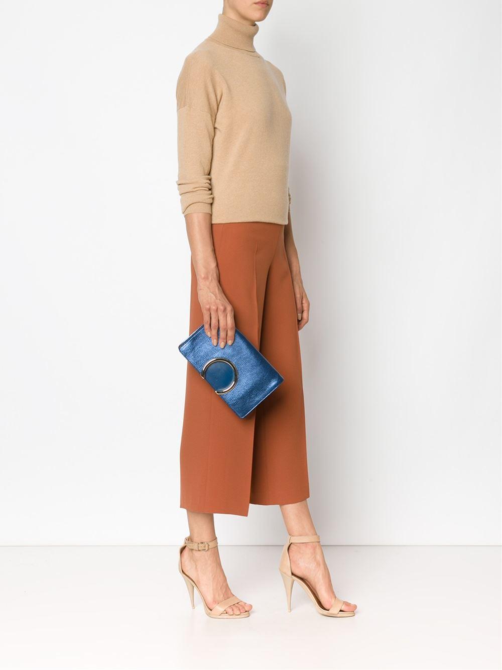 chloe marcie bag small - Chlo�� \u0026#39;Gabrielle\u0026#39; Clutch in Blue | Lyst