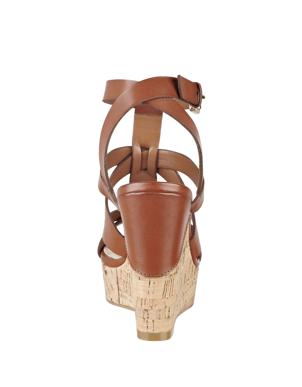 90e8e49d7a7 Guess Harlea Platform Wedge Sandals in Brown - Lyst