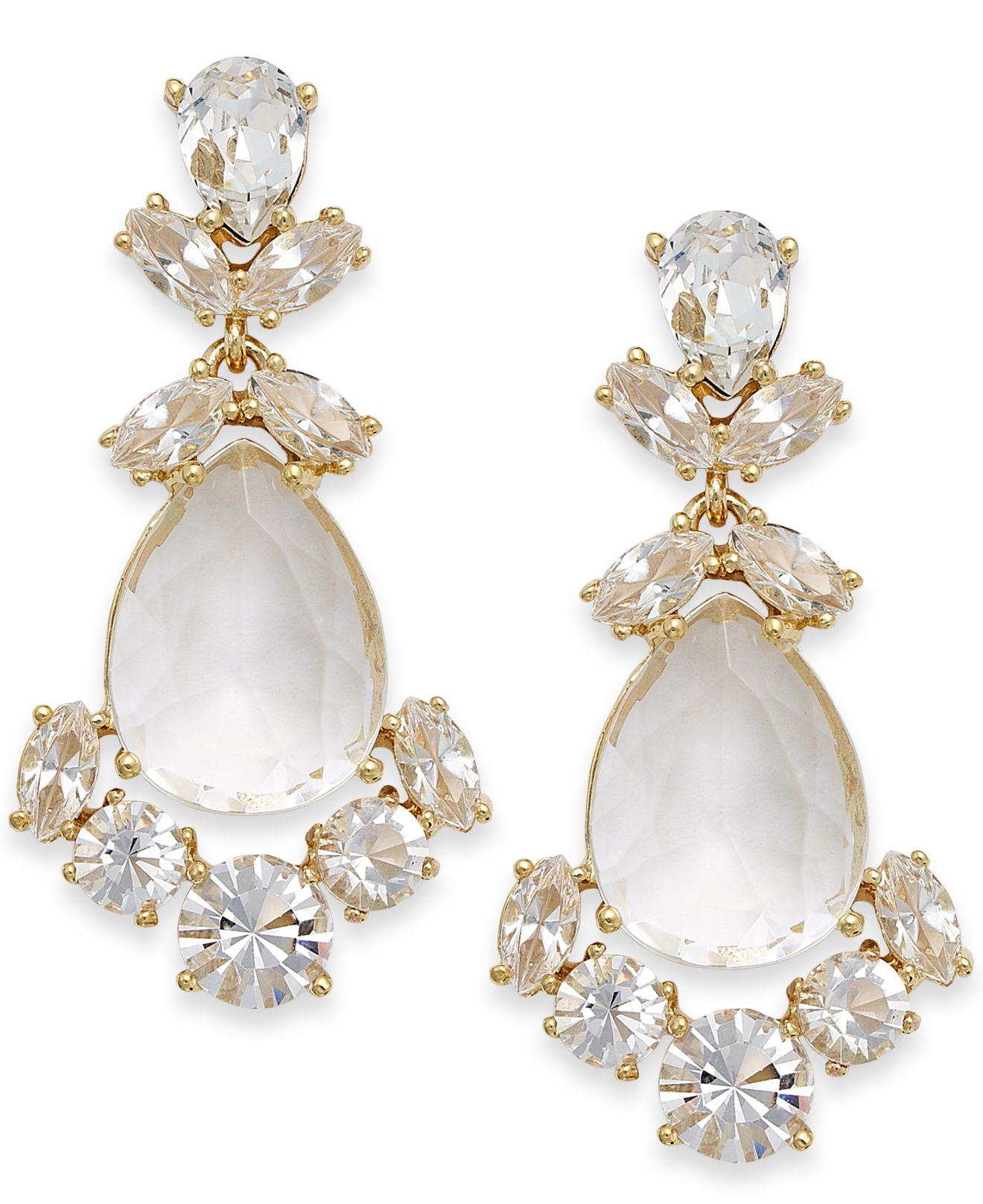 crystal white earrings product