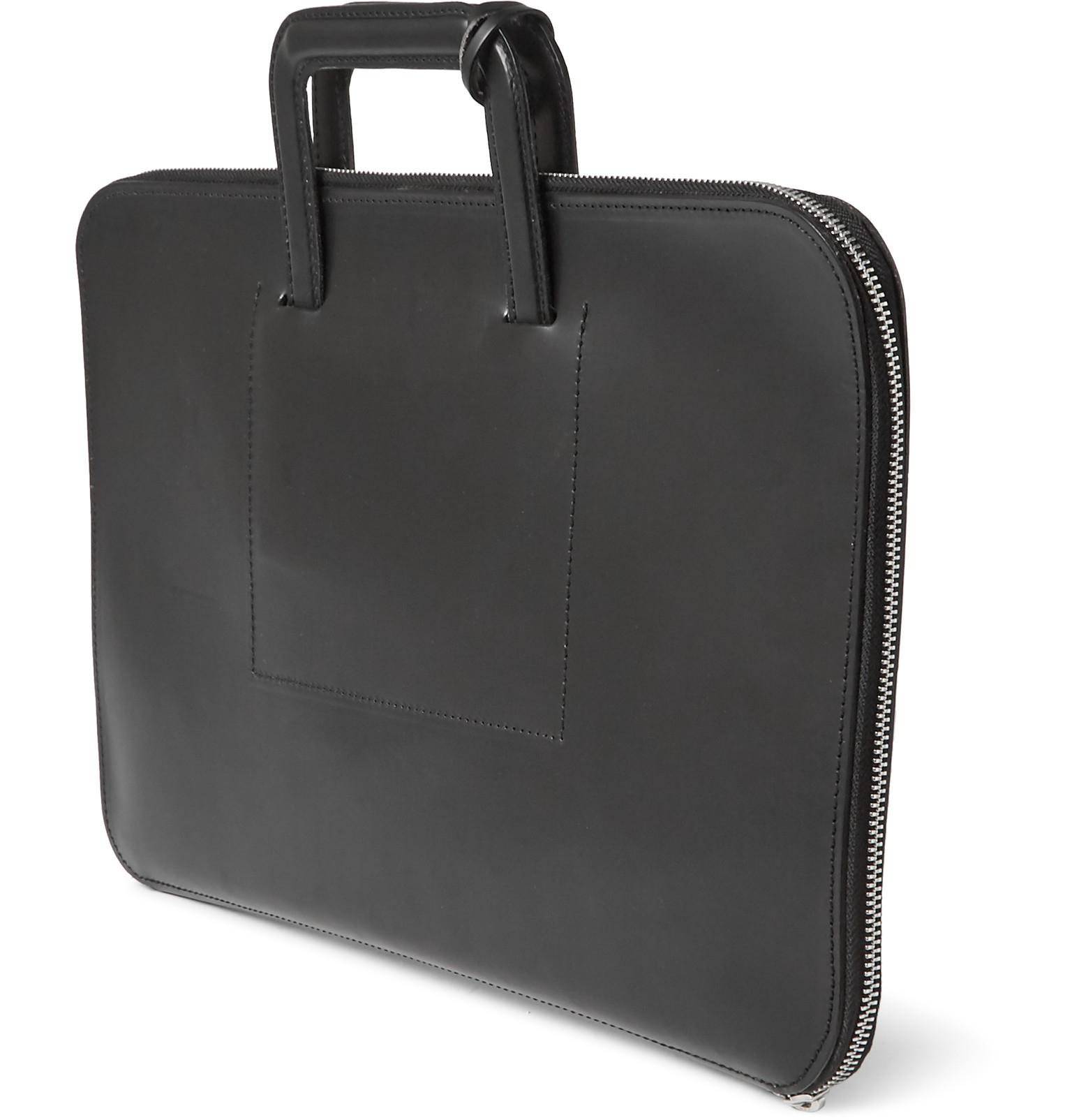 Kingsman + Swaine Adeney Brigg Salisbury Leather Folio in Black for ... 8359c9561b1e5