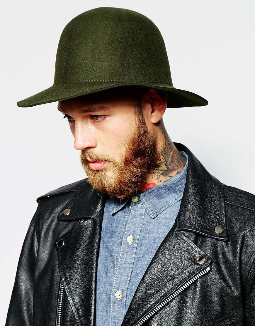 2a152f58a7100 ... discount lyst brixton cason structured hat in felt in green for men  78057 827af