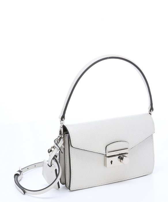 ... where to buy lyst prada white saffiano leather convertible mini shoulder  bag in 1eeb9 10453 2260d050391fd