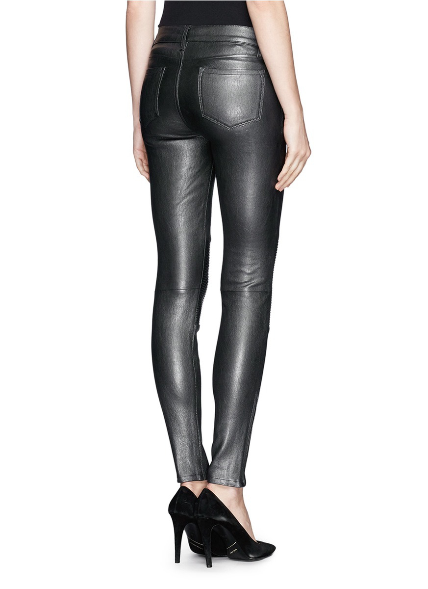 J Brand Nicola Leather Pants In Black Lyst