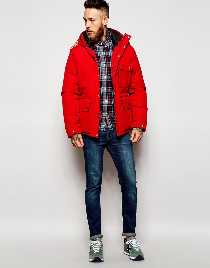 2104b1bb21d Penfield Red Shower Proof Apex Down Fill Parka for men