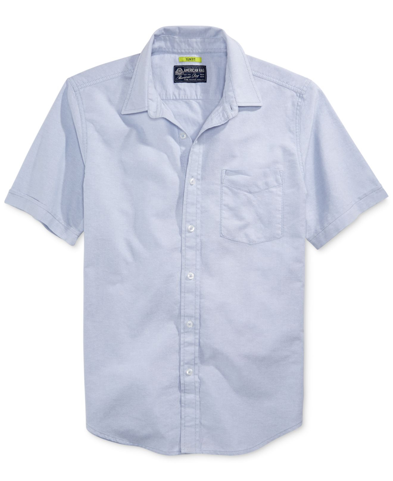 Lyst American Rag Solid Slimfit Oxford Shirt In Blue For Men