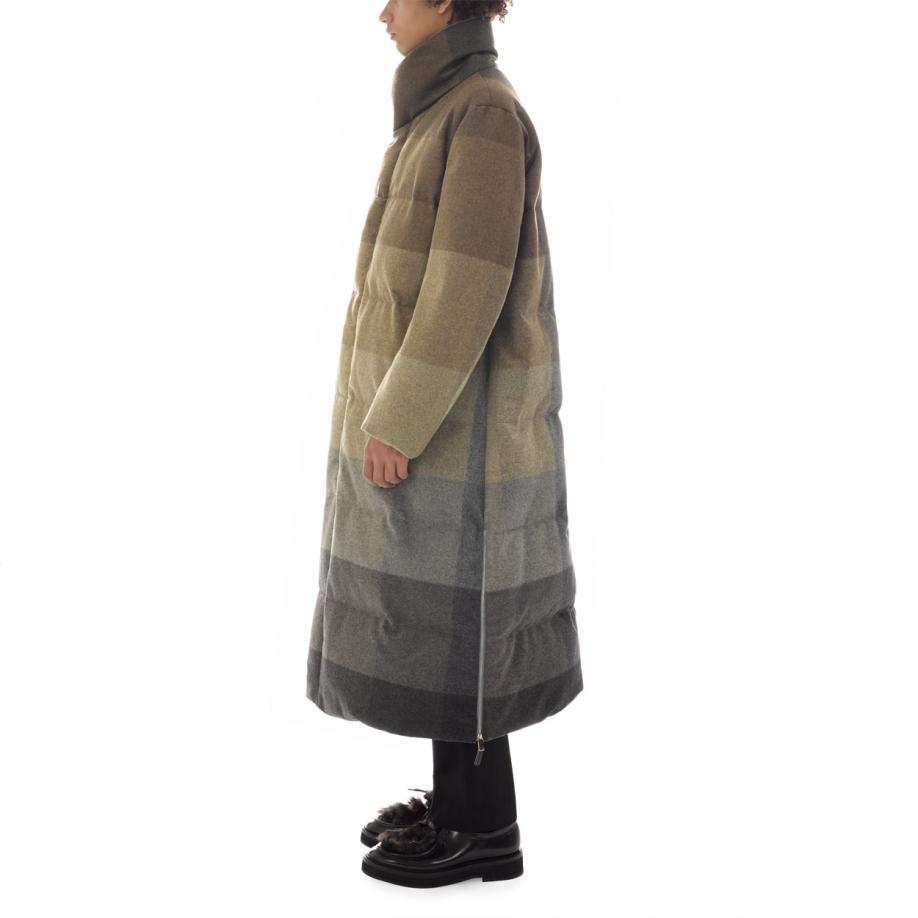 Paul smith Men's Full-length 'muted Check' Wool Down Coat for Men ...
